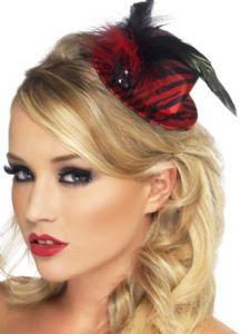 Burlesque - Moulin Rouge Top Hat with Feathers
